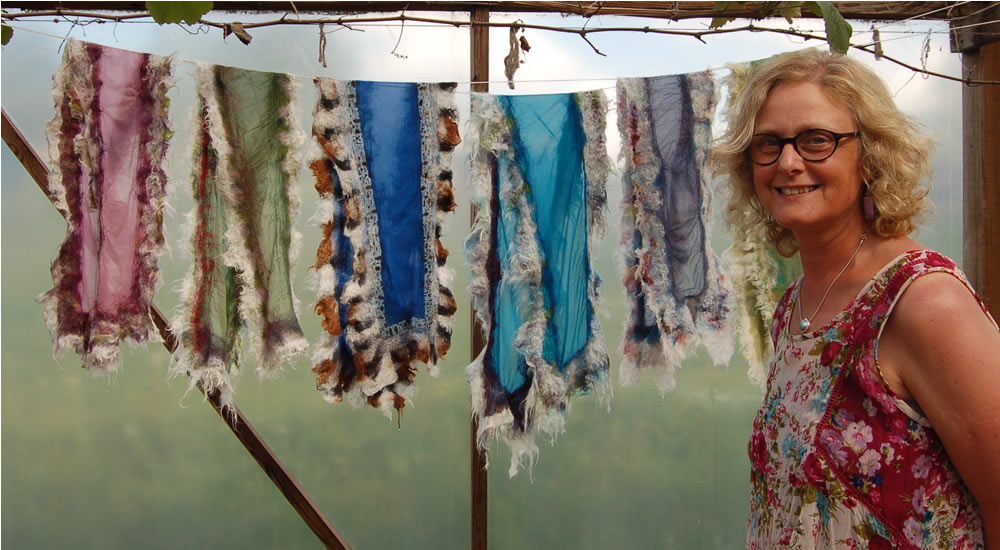 Alpaca Scarf Workshop - Latvia - Heather Potten Feltmaker